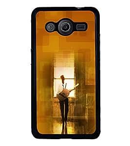 PRINTVISA The Embarasing Girl Premium Metallic Insert Back Case Cover for Samsung Galaxy Core 2 - G355H - D6086