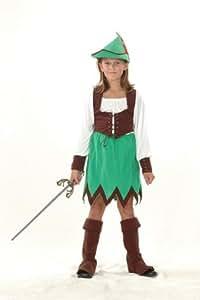 Robin Hood Girls 5pc Fancy Dress Costume - L 146cms
