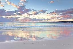 Startonight Canvas Wall Art Daydream Serenity Beach, Water USA Design for Home Decor, Dual View Surprise Artwork Modern Framed Ready to Hang Wall Art 31.5 X 47.2 Inch 100% Original Art Painting!