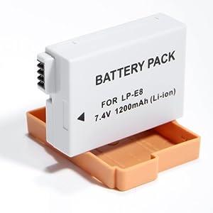 2X LP-E8 Batteries for Canon EOS Kiss X4 550D Rebel T2i