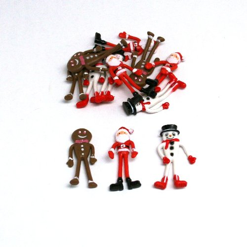 Bendable Christmas Figures : package of 12 - 1