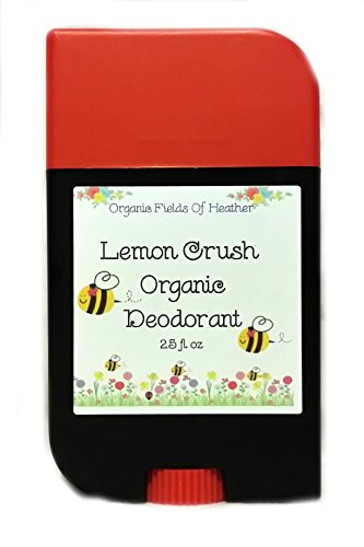Organic Deodorant - Lemon Crush Scent - 100% Certified Organic Non-Gmo Ingredients - **New & Improved!** For Women - Men - Kids - Will Not Dry Out Your Skin Or Leave A Long Lasting Oily Residue - Will Naturally Heal Your Damaged Skin - Terrific For Every front-569209