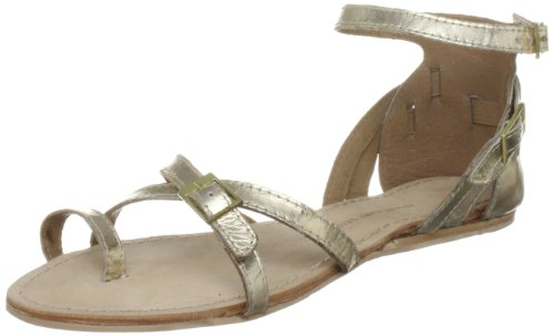 KG by Kurt Geiger Women's Moby Gold Ankle Strap 2723161109 3 UK