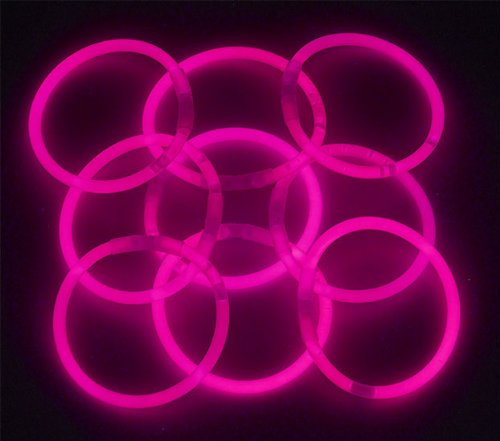 8″ Lumistick Glowsticks Glow Stick Bracelets PINK (Tube of 100)