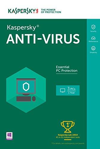 Kaspersky Anti-Virus 2016 | 3 PCs  | 1 Year | Download