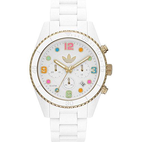 adidas ADH2945 - Reloj para mujeres, correa de plástico color blanco
