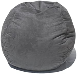 Amazon Com Microsuede Bean Bag Chair In Gray Toys Amp Games