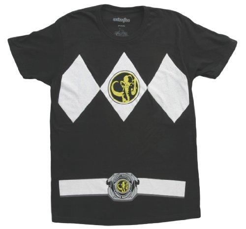 The Power Rangers Black Rangers Costume Adult T-shirt Tee, Black, Medium (Black Ranger Shirt compare prices)