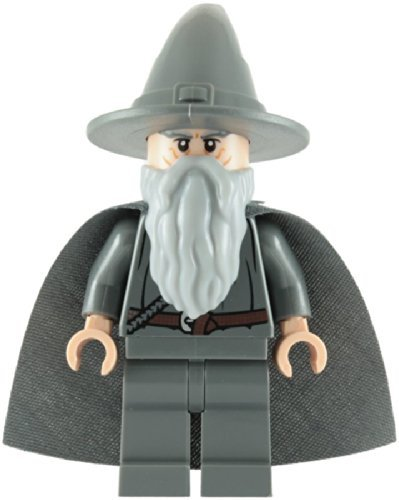 Lego The Lord Of The Rings: Gandalf The Grey Minifigure With Grey Cape - 1