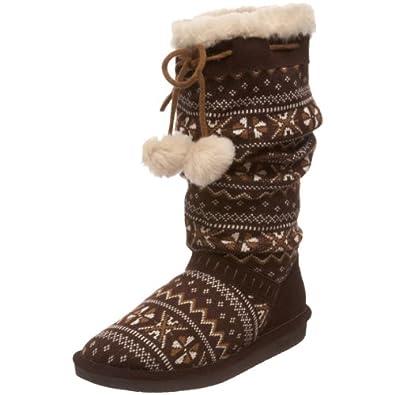 BEARPAW Women's Donner Mid-Calf Boot,Chocolate,8 M US