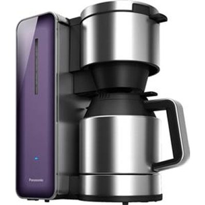 Panasonic - 8-Cup Stainless Steel Coffeemaker with Violet Glass Finish