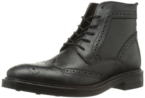 Base London Scarpa Uomo Stivaletto Men Shoe Basket Allacciata Pelle Brocket Black, 42