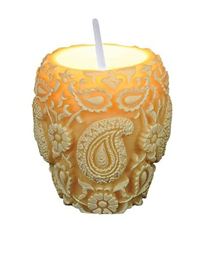 Volcanica Trance Vase Candle, White