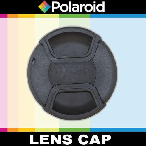 Polaroid Studio Series Snap Mount Lens Cap For The Sony NEX-VG10, NEX-VG20 Handyman Camcorder With 18-200mm Lens