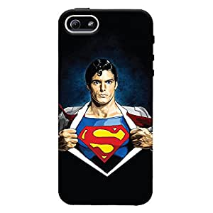 ColourCrust Apple iPhone 5 Mobile Phone Back Cover With Superman - Durable Matte Finish Hard Plastic Slim Case