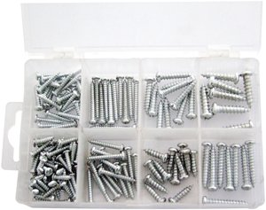 Am-Tech Wood Screws (149 Pieces)