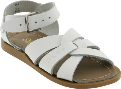 Saltwater Sandals Toddler And Kids Originals In White - 13