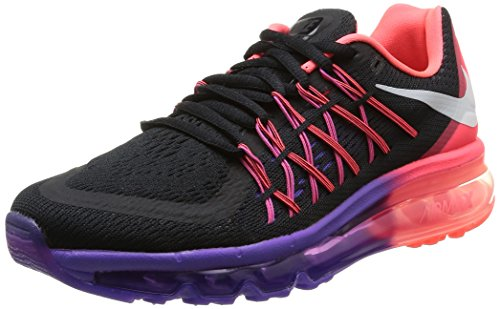 Nike Women's Air Max 2015 Running Shoes, Black/White-Hyper Punch, 8.5 (Nike Women Air Max compare prices)