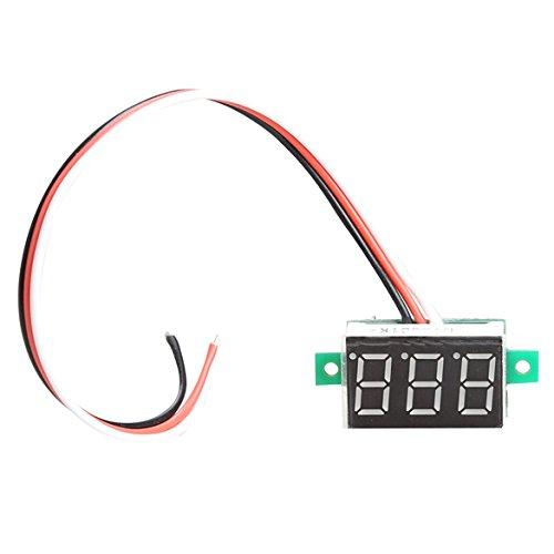 Red Light Digital Voltmeter Dc0-100V Led Panel Voltage Meter