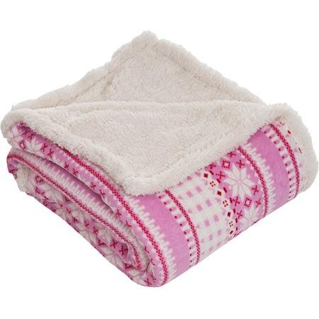 Somerset Home Fleece/Sherpa Throw Blanket