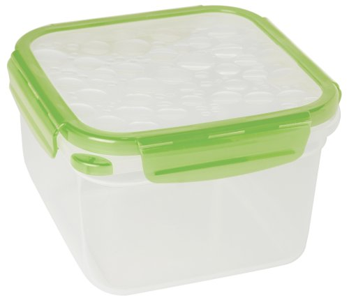 Mulberry Fresh Snap 1.7-Liter Food Storage Container, Square, Green