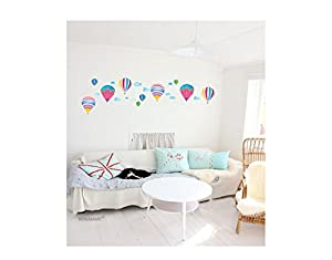 Bonamart ballon karikatur abnehmbar kindergarten wanddeko wandtattoo schlafzimmer ld871 - Wandtattoo ballon ...