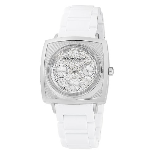 BCBGMAXAZRIA Ladies Watch BG8229 with White Rubber Bracelet