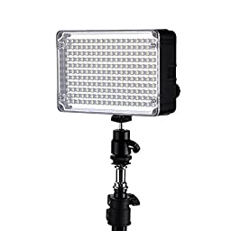 Andoer Aputure Amaran AL-H198 Camera LED Video Light CRI95+ Natural Pure Color with Hot Shoe Mount Carrying Bag