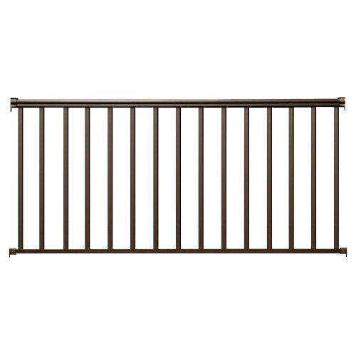 Contractor Handrail 8ft x 36in Alum Residential Railing - Bronze