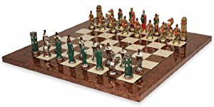 Romans & Barbarians Hand Painted Deluxe Chess Set Package