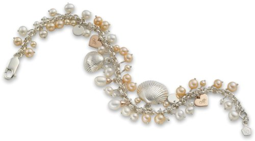 Ladies' Pearl Beachcomber Bracelet, Sterling Silver, Model SVE02, by Clogau Gold