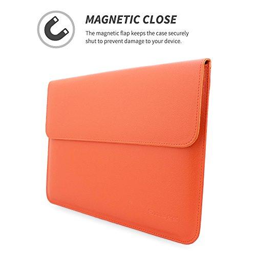 英国Snugg社 Macbook Air & Pro 13 用 ケース - 合成レザー製・生涯補償付き (Apple Macbook Air 13・Macbook Pro 13 with Retina, オレンジ)