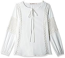 Anaphora Women's Body Blouse Shirt (56136_White_X-large)