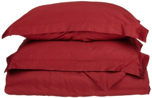 Discover Bargain 1500 Thread Count DUVET COVER, Queen-Burgundy