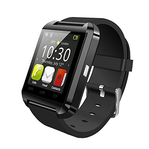 SalesLa U8 Bluetooth orologio da polso Smartphone di Samsung HTC LG Android OS Mobile Phone e Apple iOS iPhone-Remote Camera Selfie & Phone Call Sync Message & Anti-Perso