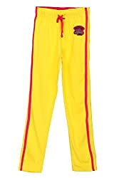 Poppers by Pantaloons Girl's Regular Fit Track Pant(205000005627502, Yellow, 9-10 Years)
