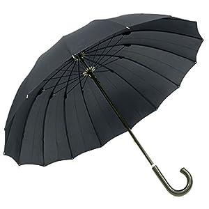 煌(kirameki) 耐風傘 ナイトブラック (漆黒)