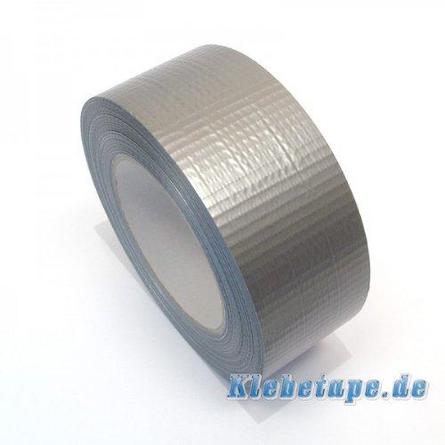 Klebeband-Silbern-48mm-x-50m-Gewebeband-Reparaturband-PE-beschichtet