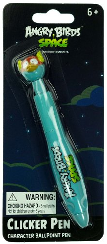"Space Blue Bird: Angry Birds Space ~5.5"" Clicker Pen - Character Ballpoint Pen"