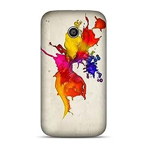 Inkif Printed Designer Case For Motorola E (1St Generation) Multi-Coloured