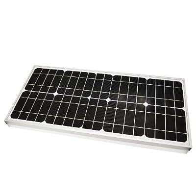 LiteFuze® 20W Mono-crystalline Solar Panel 20 Watt - High-Efficiency - Durable Heavy Duty Long Lasting Frame from LiteFuze