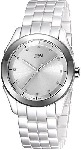 Las mujeres JBW J6261D Giana de acero inoxidable reloj de diamante de cuero
