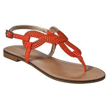 355a52dd4601 Orange Flat Sandals...anyone spot any  — thenest