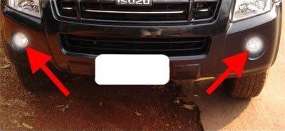 02-08 Isuzu D-Max Fog Lights Pair Driving Lamp 03 04 05