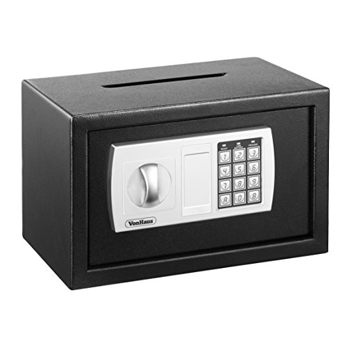 VonHaus Compact Electronic Digital Home and Office Security Solid Steel Safe with Posting Slot 9.5lbs and Key (Safety Deposit Box For Hotel compare prices)