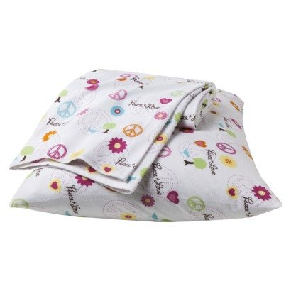 Full Peace Girl Flannel Sheet Set front-937245