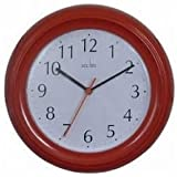 Acctim CK1414 Wycombe Wall Clock, Red