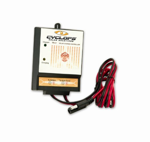 Gsm Cyc-Solc10A 10 Amp Solar Charge Controller, Black