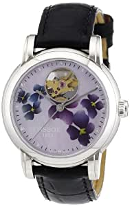 Tissot Women's T0502071610600 Heart Automatic Purple Open Dial Watch