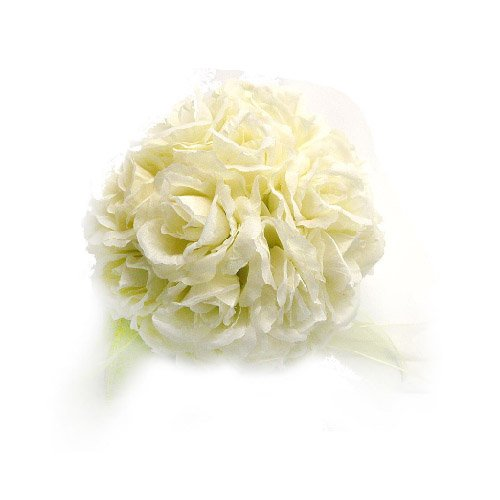Ivory Cream Rose Ball Wedding Flower Decoration
